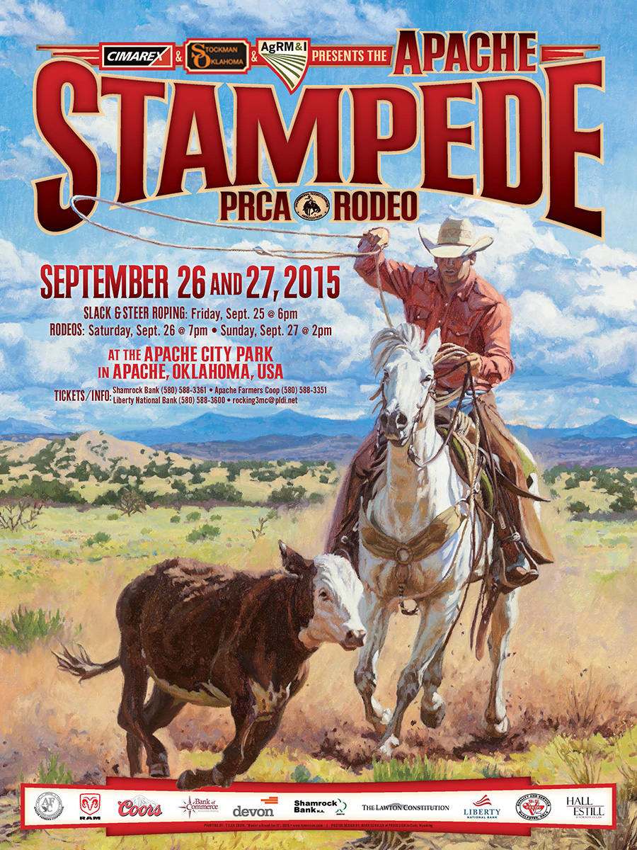 2015 Stampede Rodeo Poster Apache Stampede Prca Rodeo
